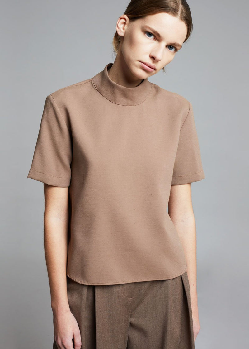 Sera Mock Neck Top in Chanterelle