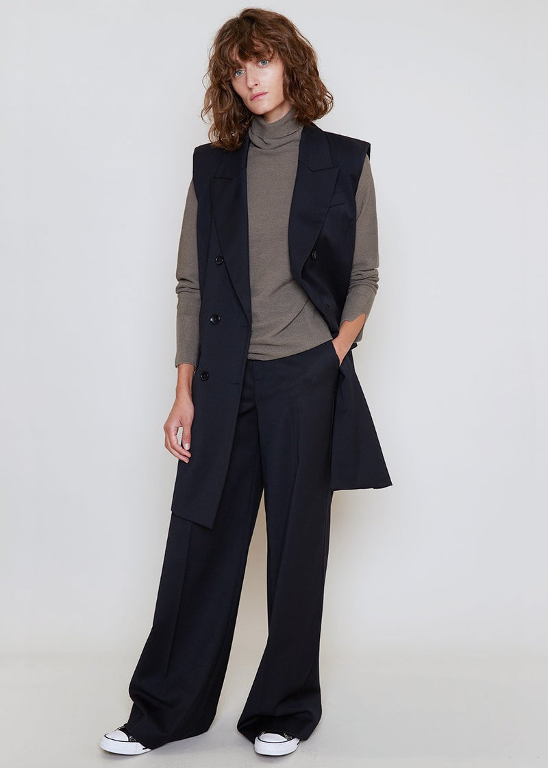 Magrethe Wide Leg Pants by Gestuz in Navy