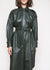 Lavare Leather Shirt Dress by Remain Birger Christensen in Deep Depths