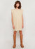 Tina Padded Shoulder Muscle Dress in Almond Milk