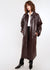 Crinkle Faux Leather Trench Coat in Huckleberry