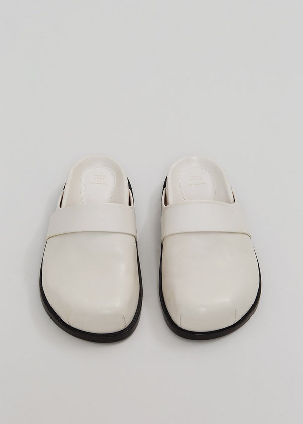 Porte & Paire x TFS Leather Slipper - Pearl
