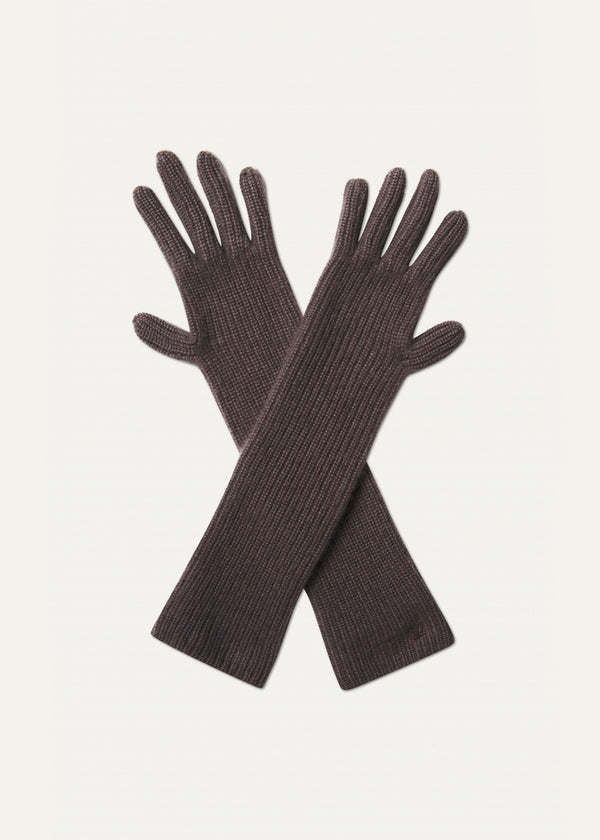 Alga Cashmere Gloves by Loulou Studio in Taupe