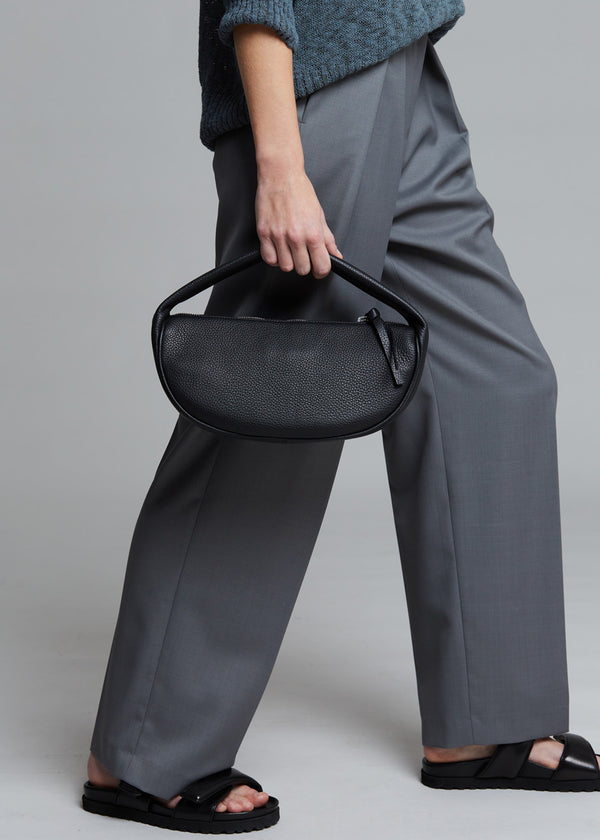 Cush Leather Shoulder Bag by BY FAR in Black