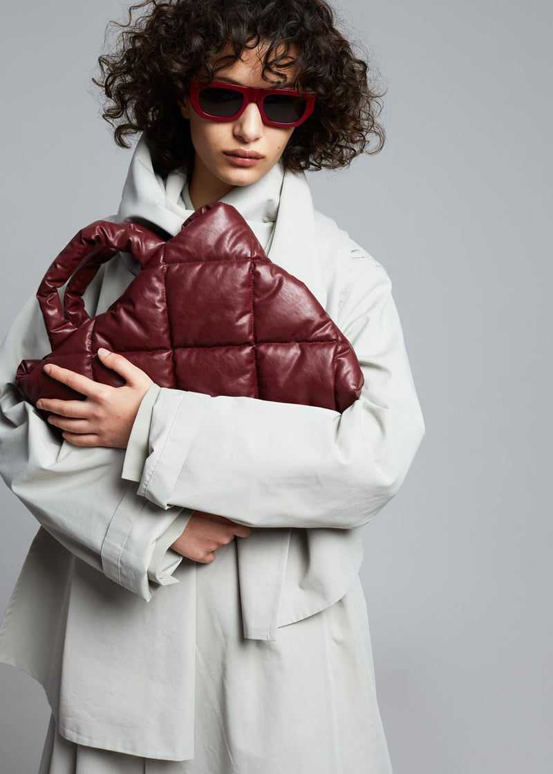 KASSL Editions Oil Small Quilted Bag - Bordeaux
