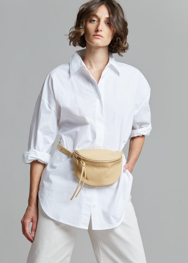 Dion Leather Fanny Pack - Sand