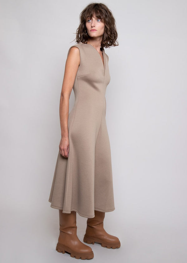 Luna Midi Dress by Beaufille in Sand