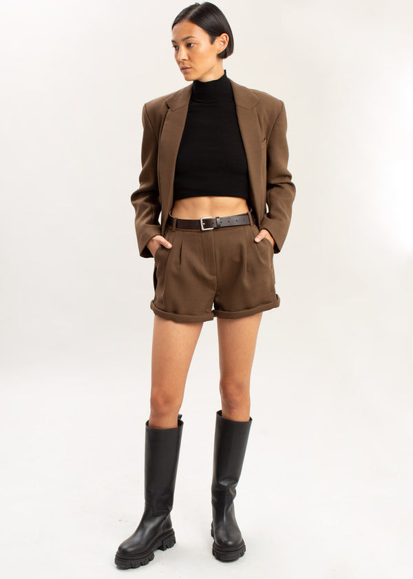 Wall Street Hotpants by The Garment in Brown