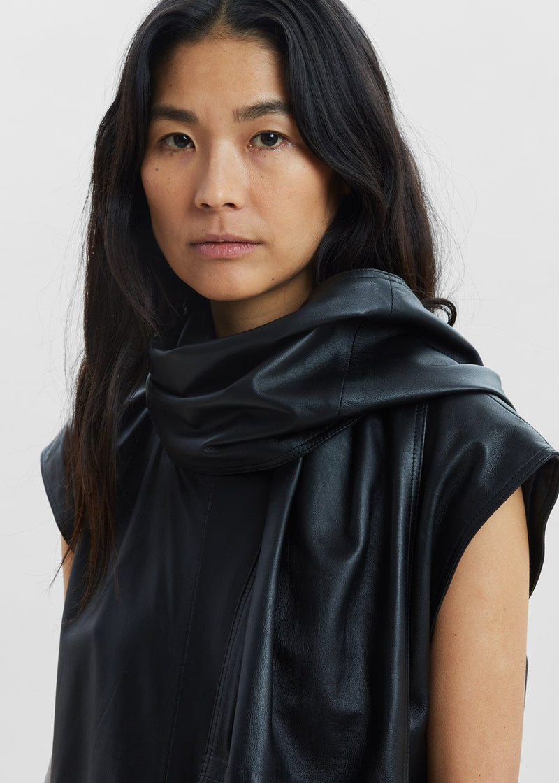 Lebuan Leather Dress by Loulou Studio in Black