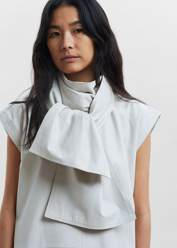 Lebuan Leather Dress by Loulou Studio in Ivory