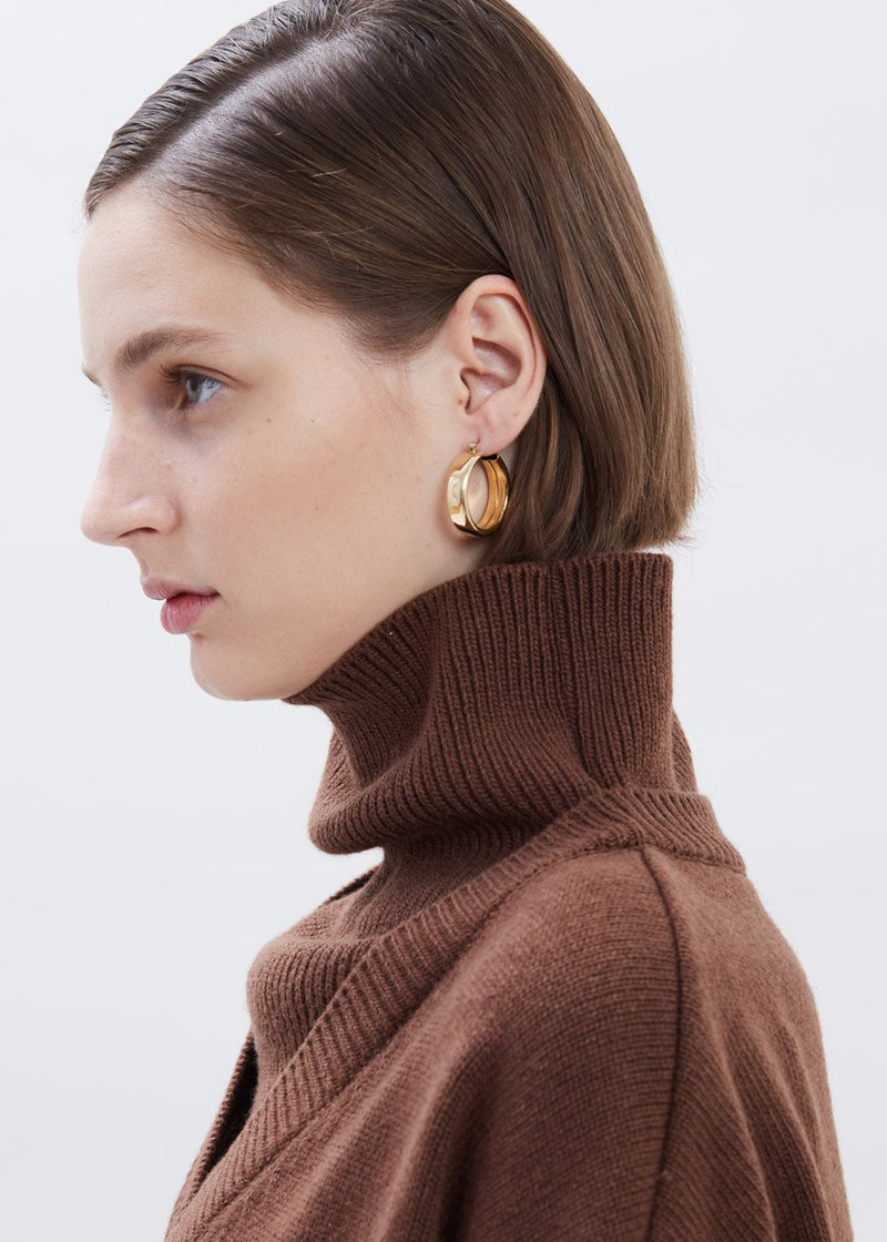 Band Earrings by Laura Lombardi in Gold