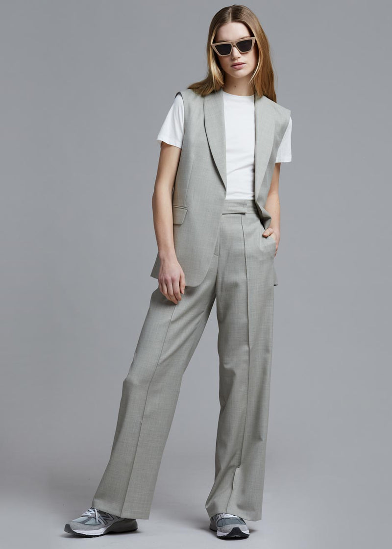 Mattea Suit Trousers in Agate Melange