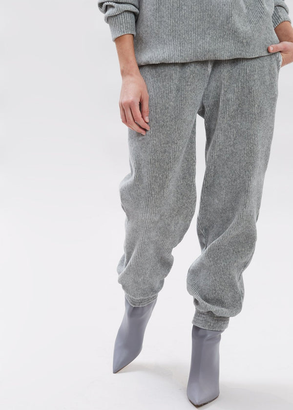 Luxe Corduroy Joggers in Winter Grey