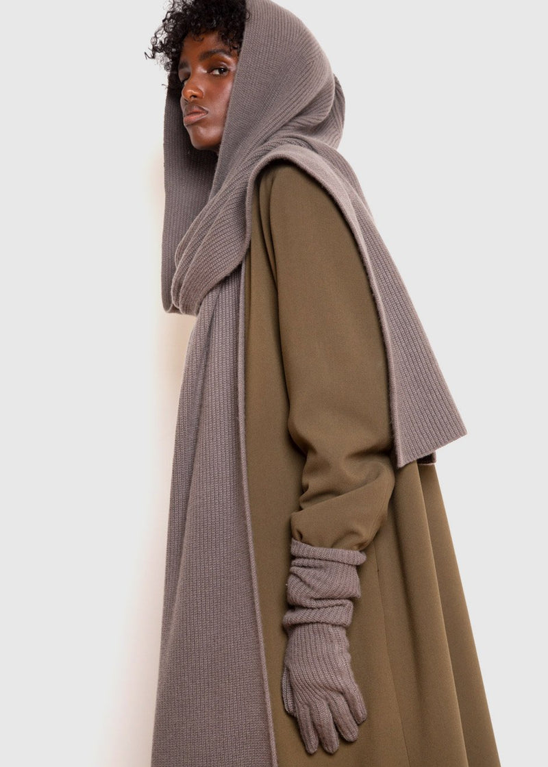 Capense Hooded Scarf by Loulou Studio in Taupe