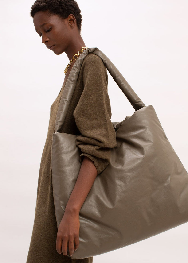 Oil Large Tote Bag by KASSL Editions in Khaki
