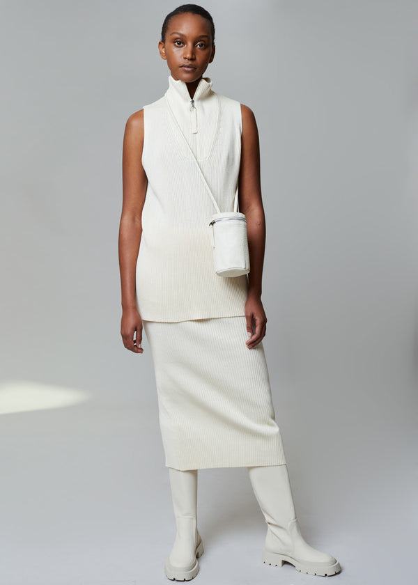 Ludmila Skirt by Rodebjer in Ceramic White