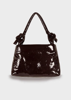 Lady Lacquer Leather Bag by KASSL Editions in Wine