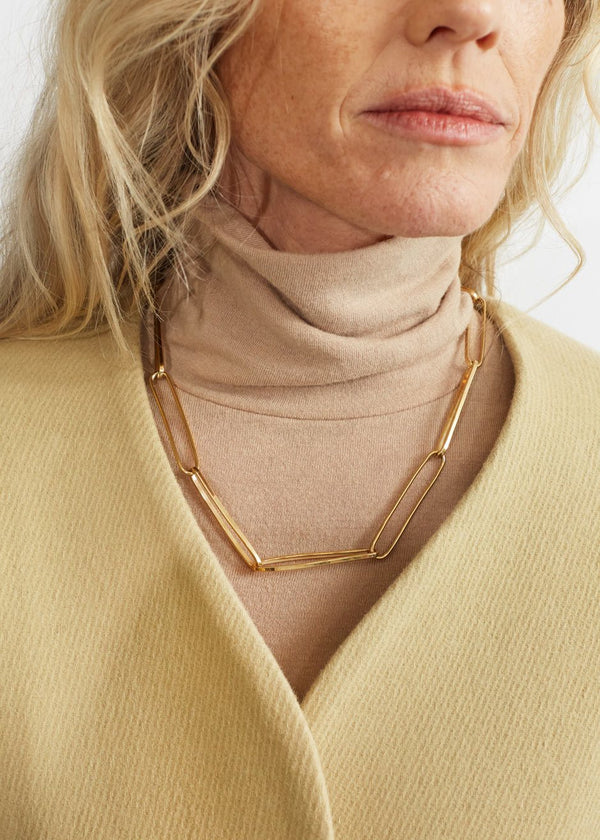 Jono Chain Necklace by Fay Andrada in Brass