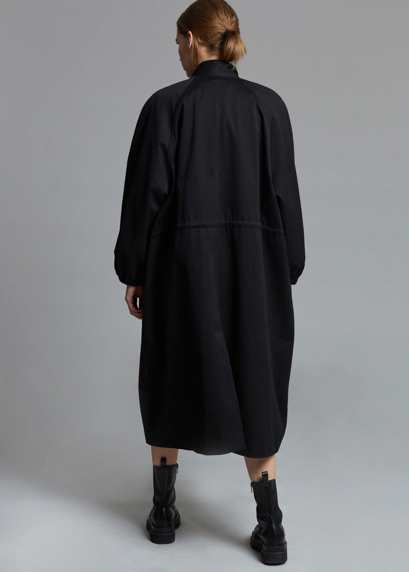 Oversized Long Anorak Parka in Black