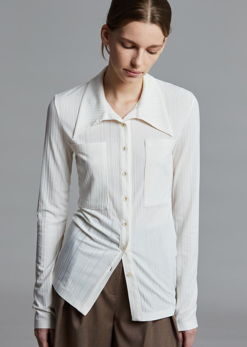 Low Classic Jersey Pocket Shirt in Ivory