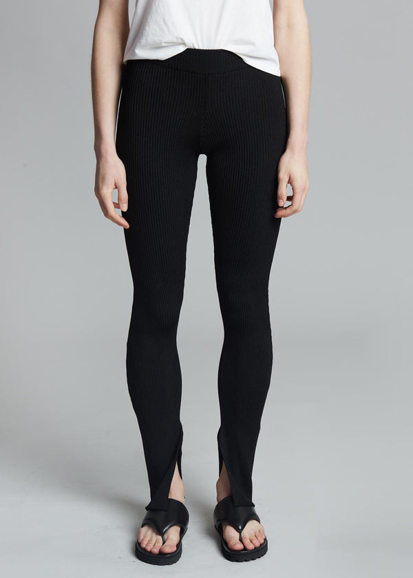 Bevza Ribbed Leggings - Black