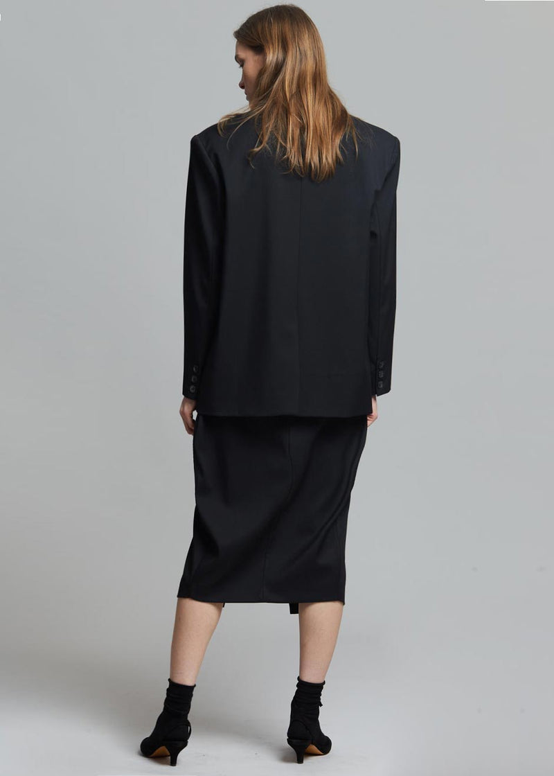 Philomena Suit Blazer in Black