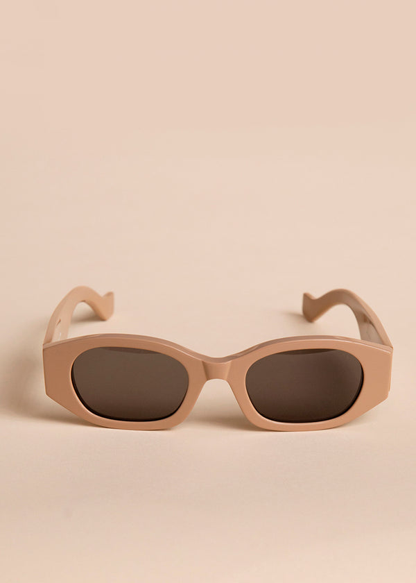 Oblong Sunglasses by TOL Eyewear in Nude