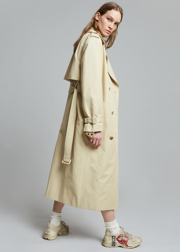 Gretel Double Breasted Trench Coat - Marzipan