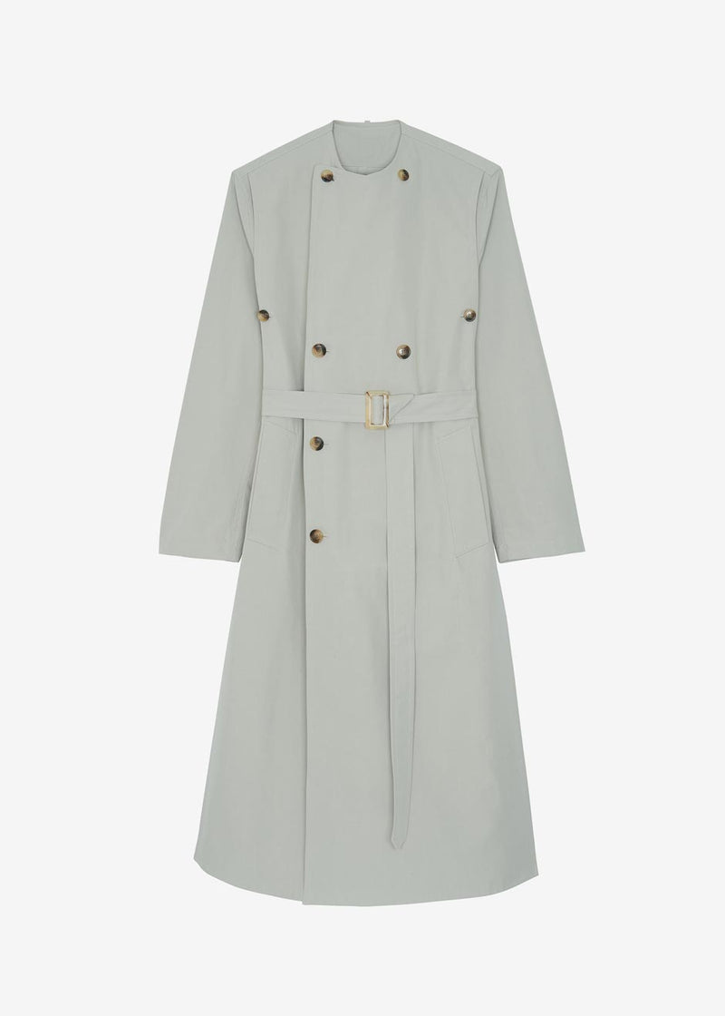 Arden Layered Trench Coat in Agate