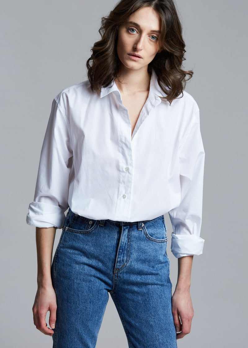 Classic Oversized Button Down Shirt in White