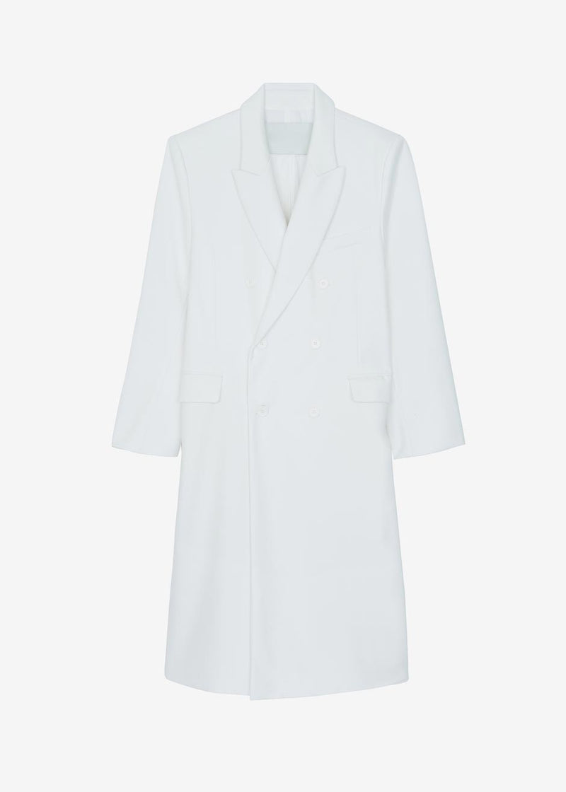 Dree Double Breasted Overcoat - Optic White