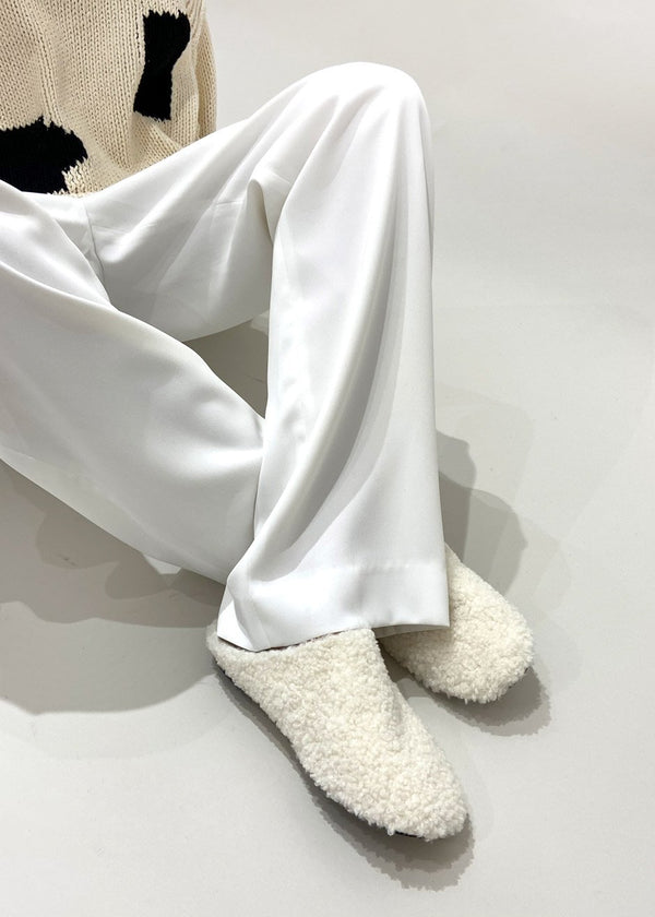 Winter Shearling Slippers in Ivory