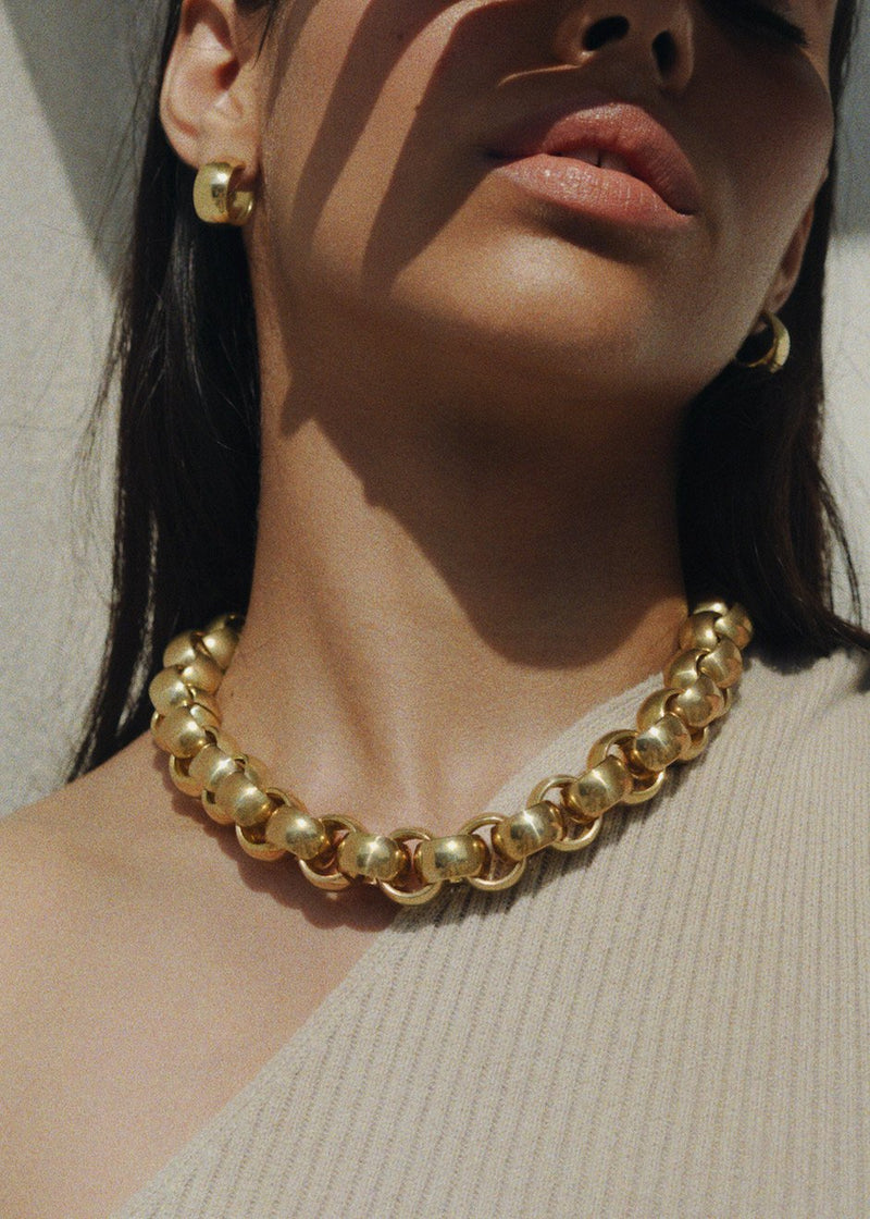 Luna Chain Necklace by Laura Lombardi in Gold