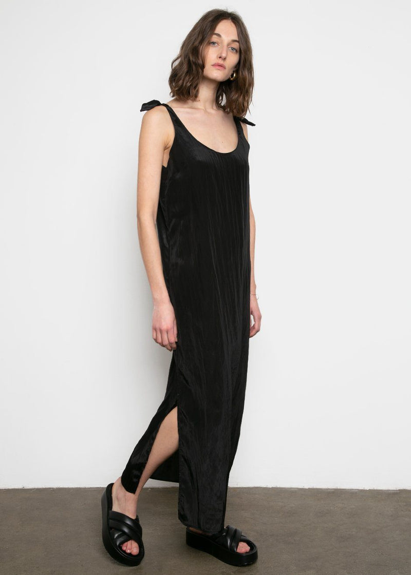 Amomento Slip Dress- Black Dress Amomento