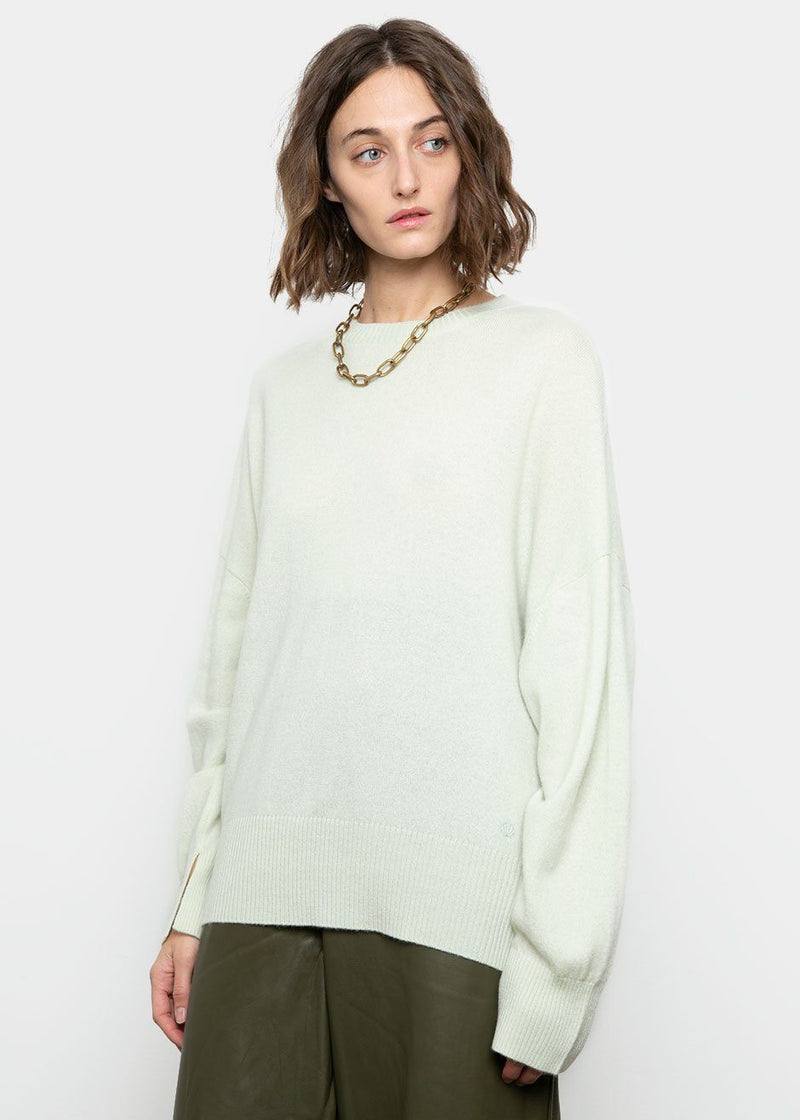 Anaa Cashmere Sweater by Loulou Studio- Light Green sweater Loulou Studio