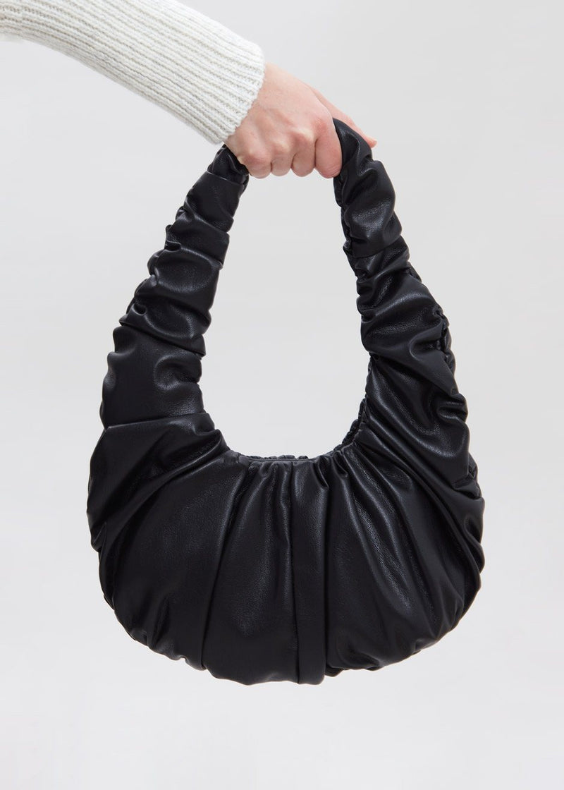 Anja Gathered Baguette Bag by Nanushka in Black Bag Nanushka
