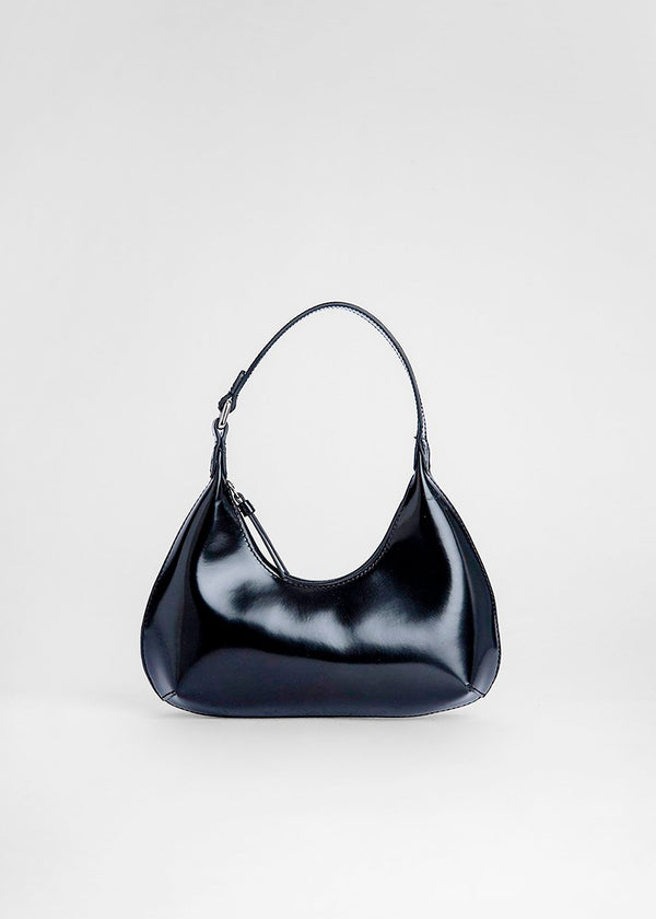 Baby Amber Semi Patent Leather Bag by BY FAR in Black
