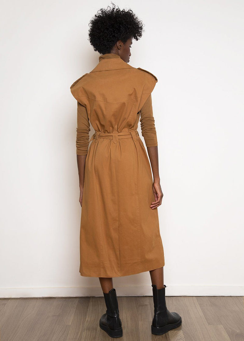 Bani Trench Dress by Gestuz in Rubber Dress Gestuz