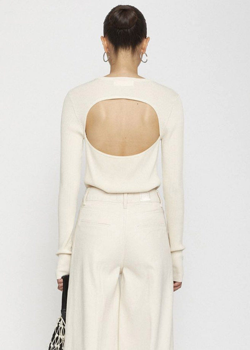 Basel Open Back Knit Top by Remain Birger Christensen in Birch Top Remain