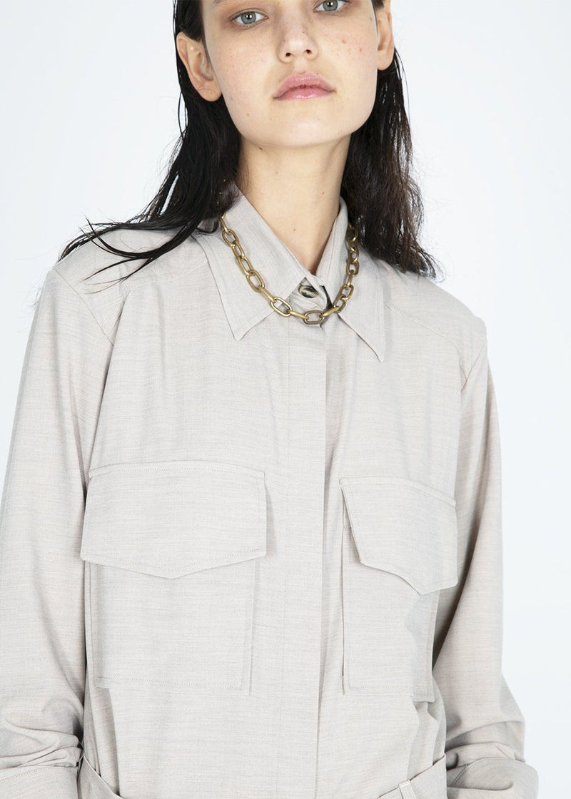 Beige Cargo Shirt by Studio Cut Shirt Studio Cut