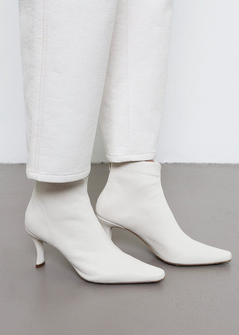 By Far White Stevie Ankle Boots Shoes By Far