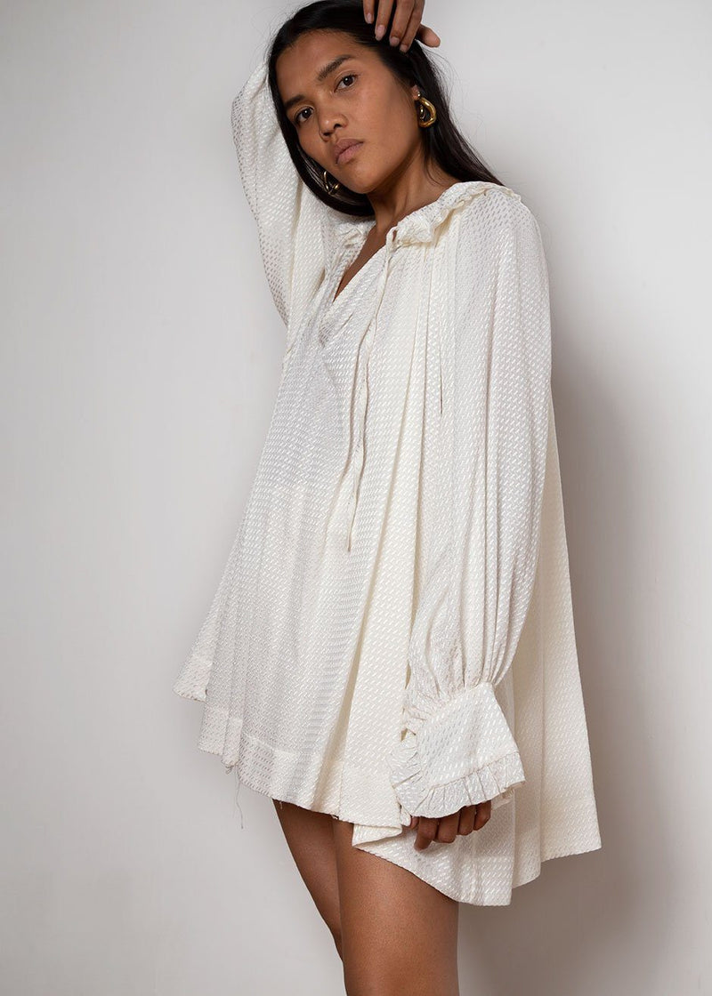 Cream Oversized Painter Blouse by Studio Cut Shirt Studio Cut