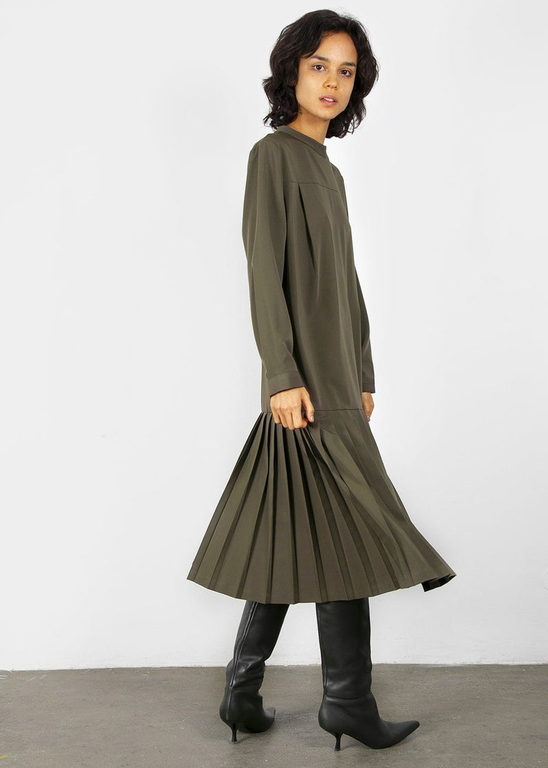 Drop Waist Dress in Moss Green Dress Beside You