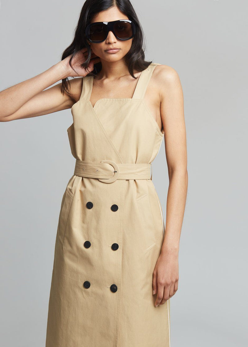 Fenne Trench Dress- Tan Dress bani b.