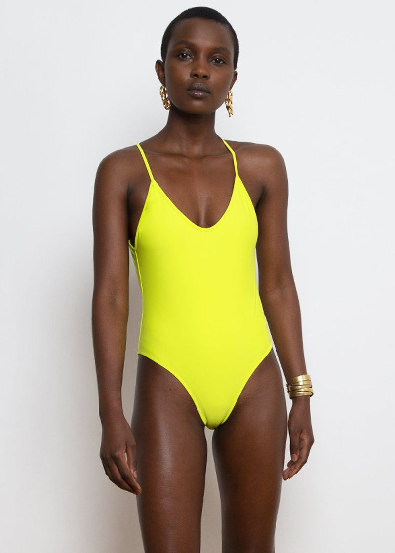 Fitzgerald One Piece Swimsuit by Bower in Lime swimsuit Bower