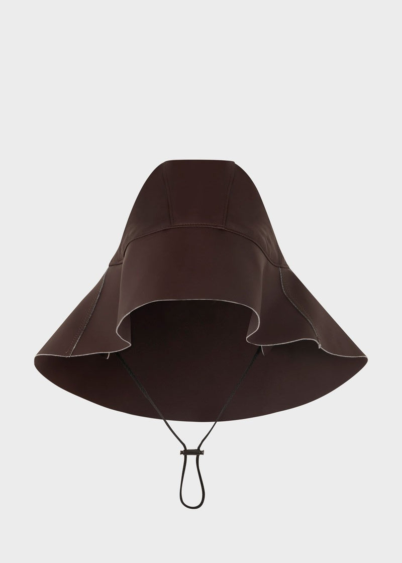 Rubber Rain Hat by KASSL Editions - Dark Chocolate