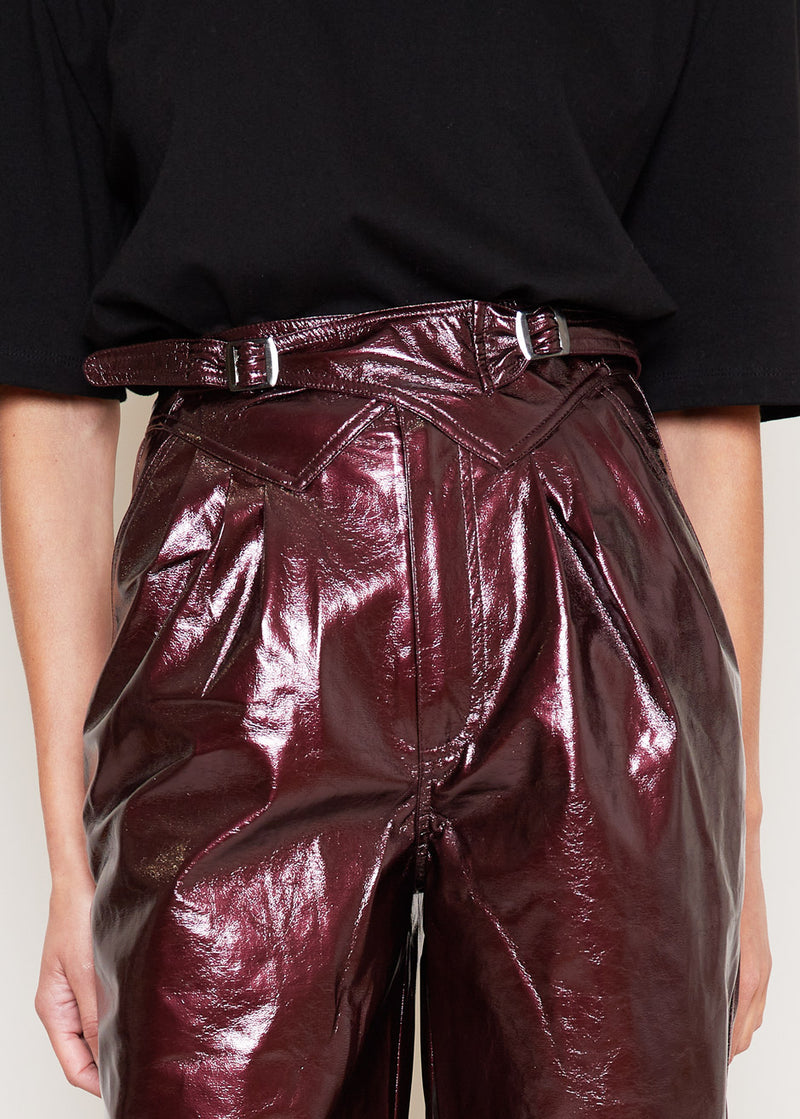 Wilde High Waist Pants by ROTATE in Zinfandel
