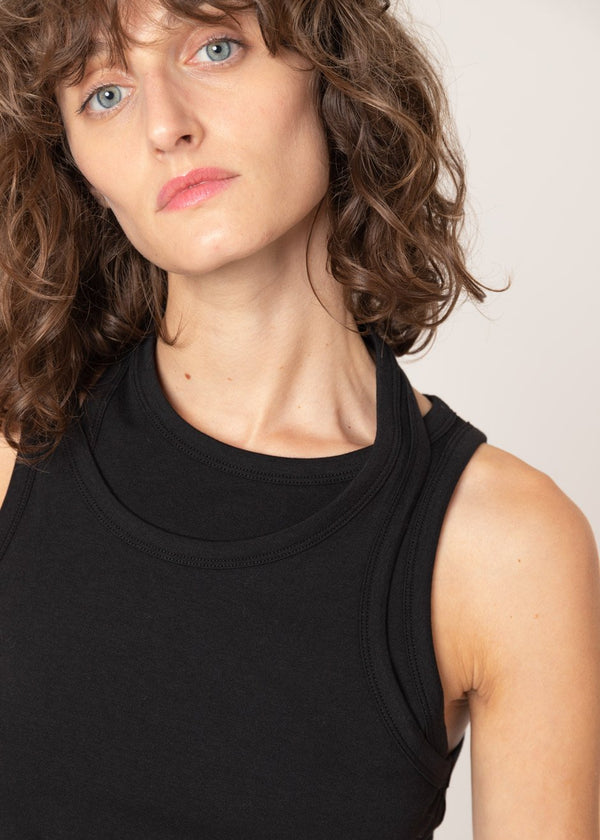 Double Asymmetric Layer Tank in Black