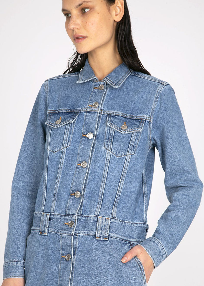 Ganni Denim Dress- Washed Indigo Dress Ganni