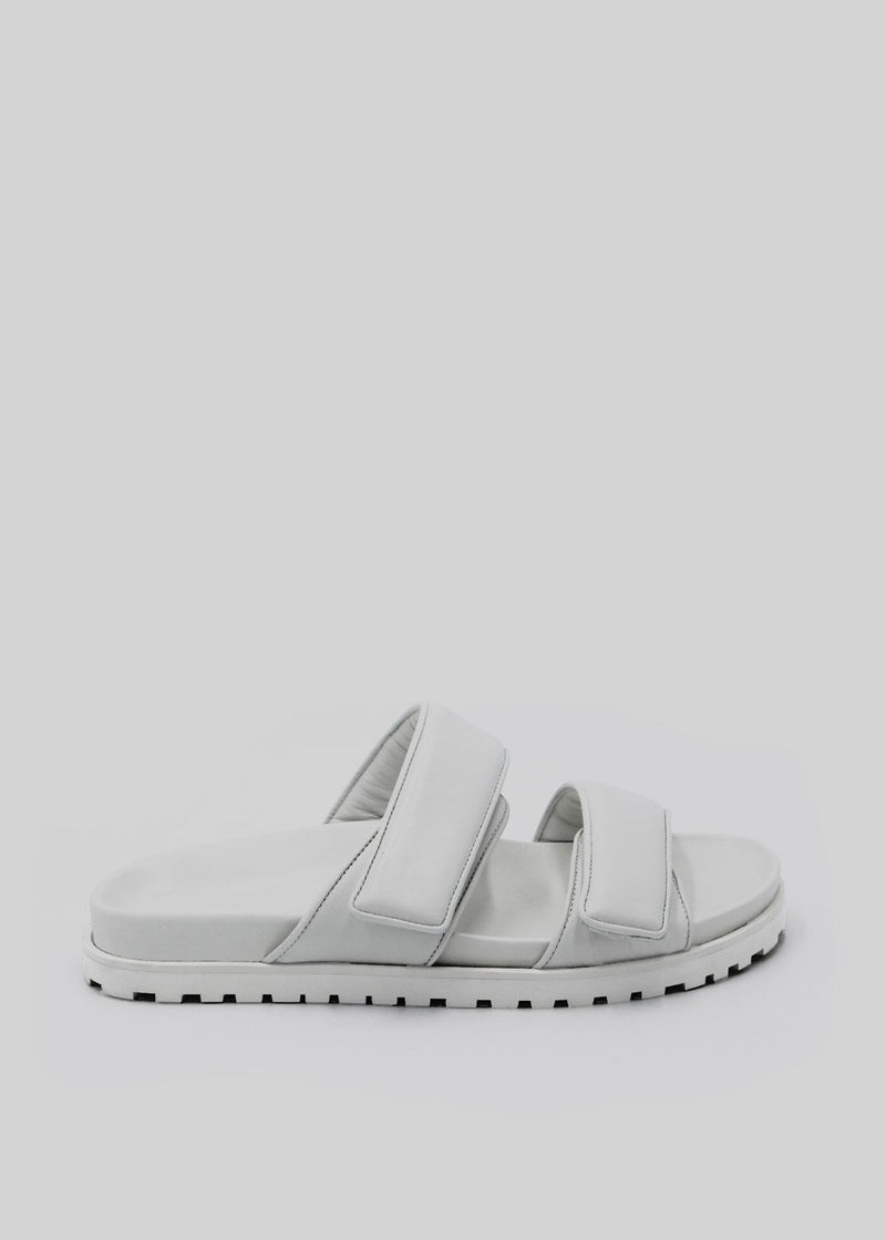 GIA x Pernille Leather Slide Sandals in Off White Shoes gia X Pernille Teisbaek